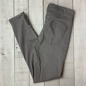 Pilcro and the Letterpress Serif ankle zip skinny